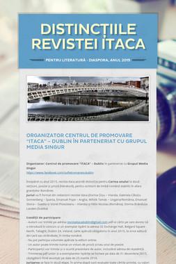 Distincțiile revistei Itaca