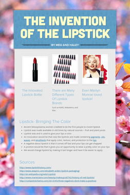 The Invention of the Lipstick