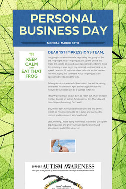 Personal Business Day