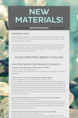 New Materials!