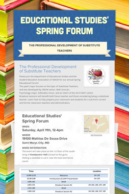 Educational Studies' Spring Forum