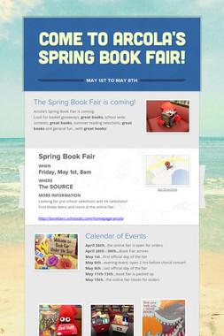 Come to Arcola's Spring Book Fair!