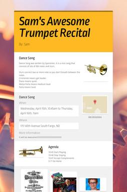 Sam's Awesome Trumpet Recital