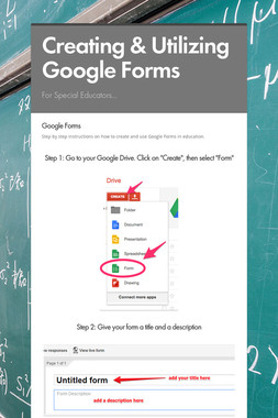 Creating & Utilizing Google Forms