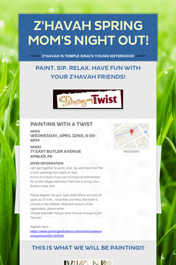 Z'havah Spring Mom's Night Out!