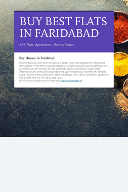 BUY BEST FLATS IN FARIDABAD