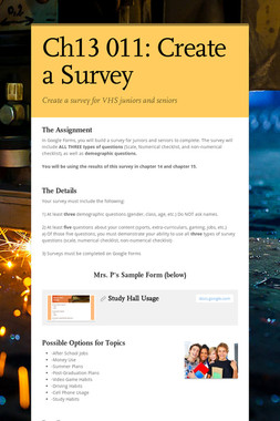 Ch13 011:  Create a Survey