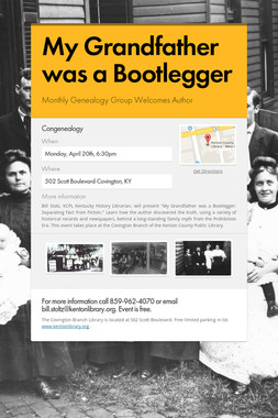 My Grandfather was a Bootlegger