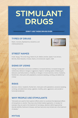 Stimulant drugs