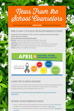 News From the School Counselors