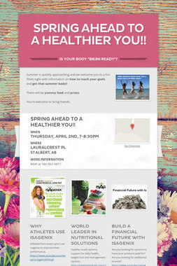 Spring Ahead to a Healthier YOU!!