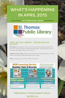 What's Happening in April 2015