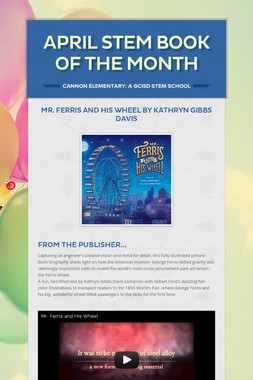 April STEM Book of the Month