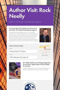 Author Visit:    Rock Neelly