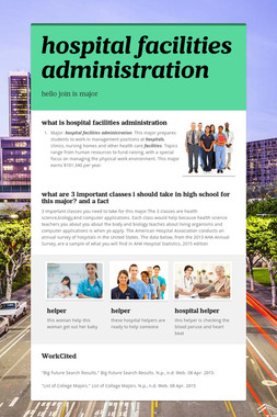 hospital facilities administration