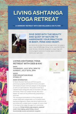 Living Ashtanga Yoga Retreat