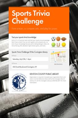 Sports Trivia Challenge