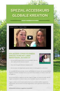 Spezial Accesskurs Globale Kreation