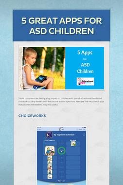 5 Great Apps for ASD Children