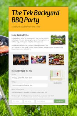 The Tek Backyard BBQ Party