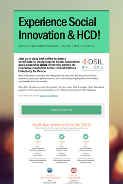 Experience Social Innovation & HCD!