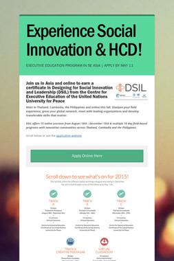 Experience Social Innovation & HCD!