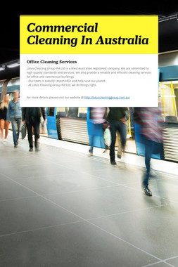Commercial Cleaning In Australia