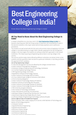 Best Engineering College in India!
