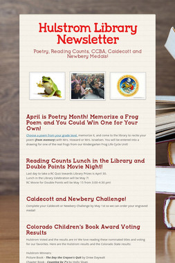 Hulstrom Library Newsletter