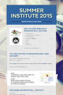 Summer Institute 2015