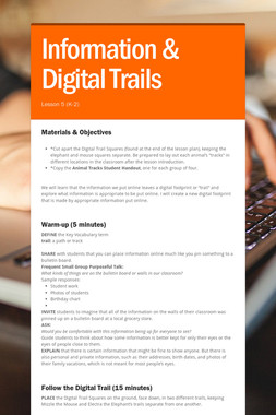 Information & Digital Trails