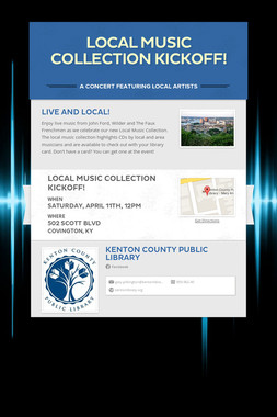 Local Music Collection Kickoff!