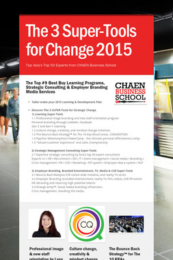 The 3 Super-Tools for Change 2015