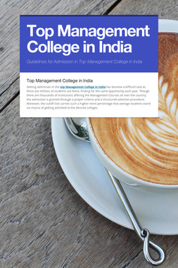 Top Management College in India
