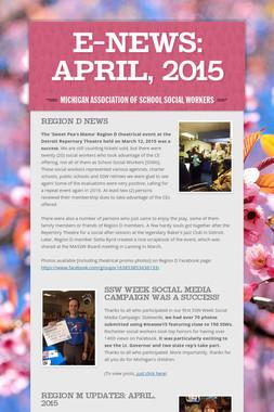 E-News: April, 2015