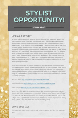 Stylist Opportunity!