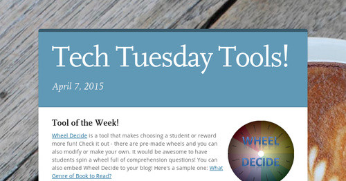 Tech Tuesday Tools! | Smore Newsletters