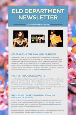 ELD Department Newsletter