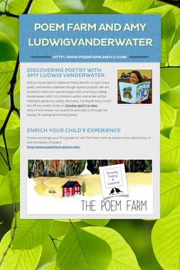Poem Farm and Amy LudwigVanderWater