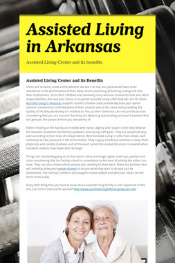 Assisted Living in Arkansas