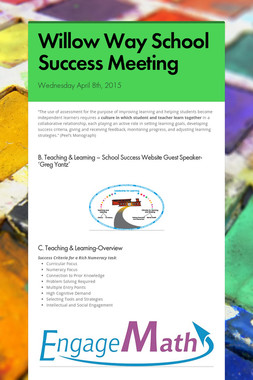 Willow Way School Success Meeting