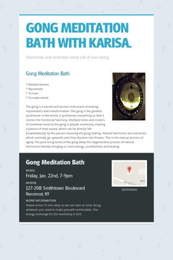 GONG MEDITATION BATH WITH KARISA.