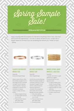 Spring Sample Sale!