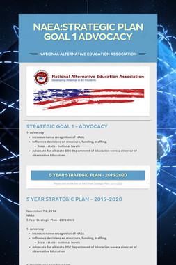 NAEA:Strategic Plan Goal 1 Advocacy
