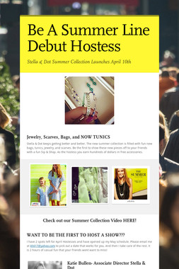 Be A Summer Line Debut Hostess