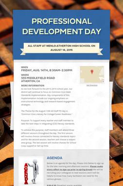 Professional Development Day