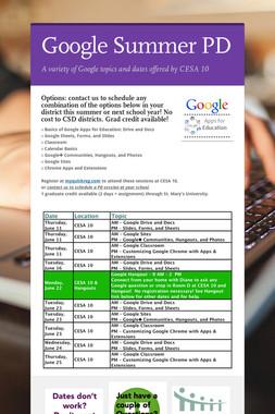 Google Summer PD