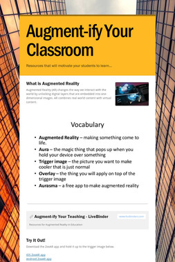 Augment-ify Your Classroom