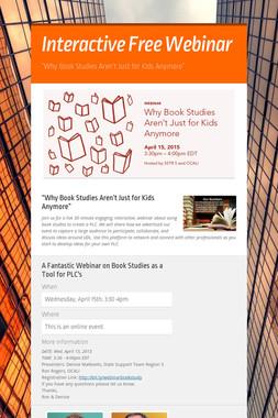 Interactive Free Webinar