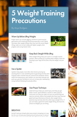 5 Weight Training Precautions